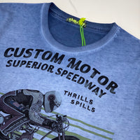 Shockly Blue Motorcycle T-Shirt