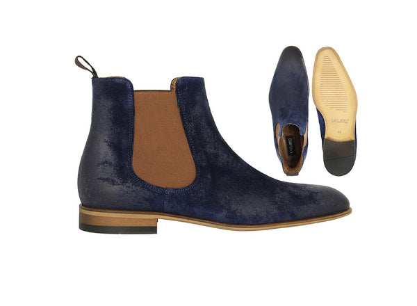 LaCuzzo Navy Suede Chelsea boot