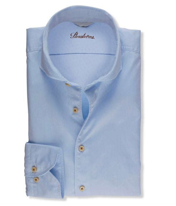Stenstroms Light Blue Casual Slimline Shirt