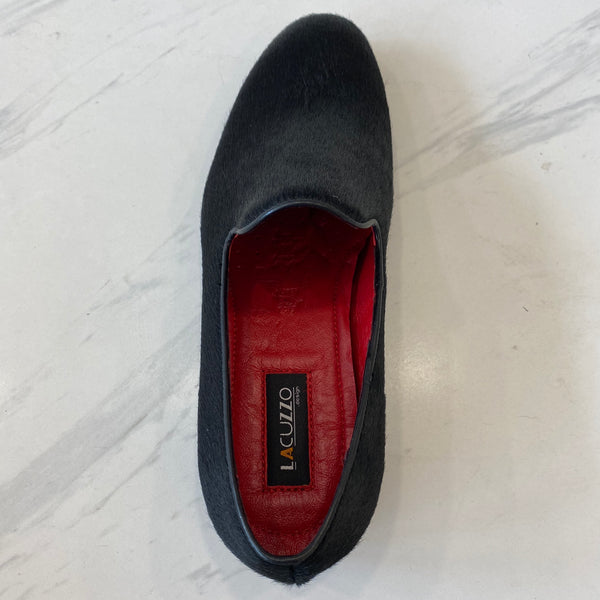 LaCuzzo Black Ponyskin Loafer