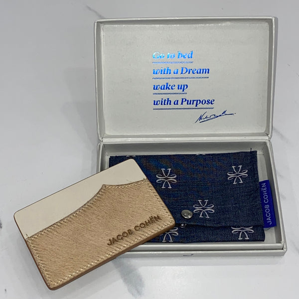 Jacob Cohen Tan Card Holder