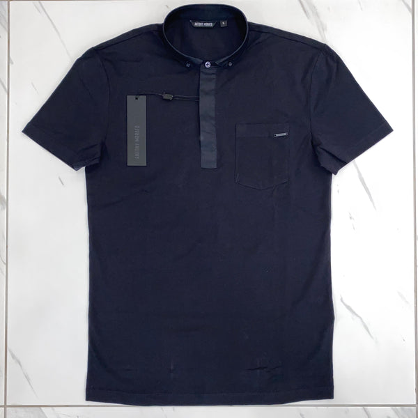 Antony Morato Navy Button Down Polo