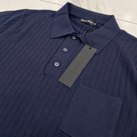 Antony Morato Navy Ribbed Polo