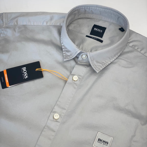 Hugo Boss Grey Short Sleeve Shirt