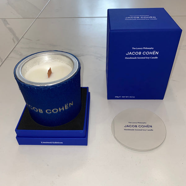 Blue Jacob Cohen Handmade Scented Soy Candle