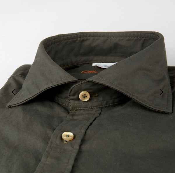 Stenstroms Forest Green Casual Slimline Shirt