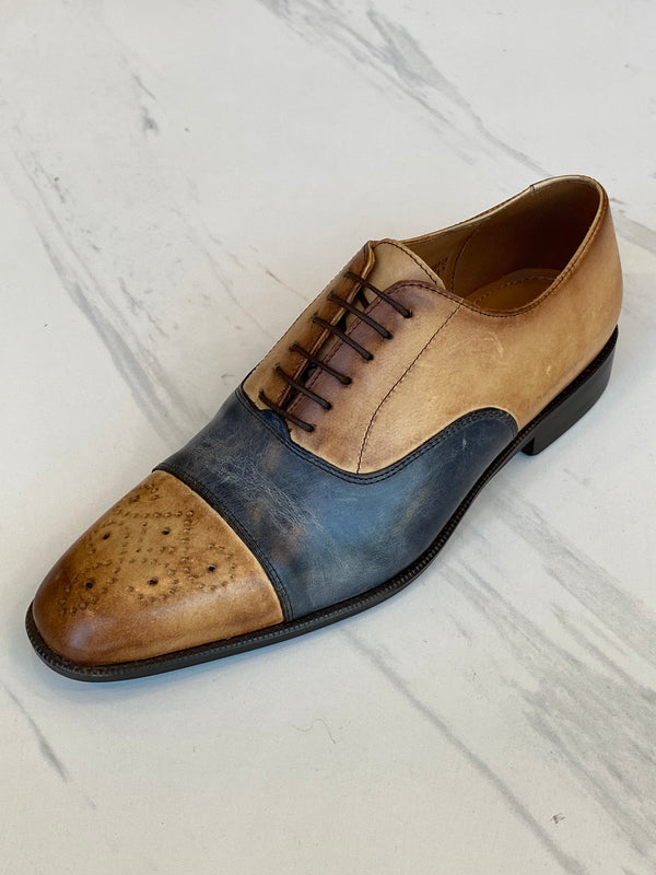LaCuzzo Two tone Navy Shoe