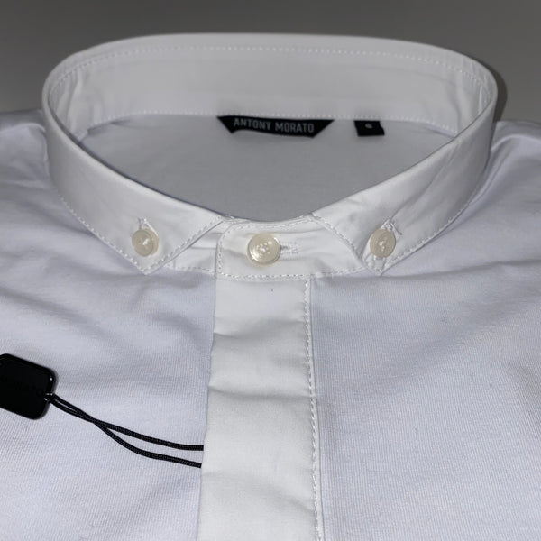 Antony Morato White Button Down Polo