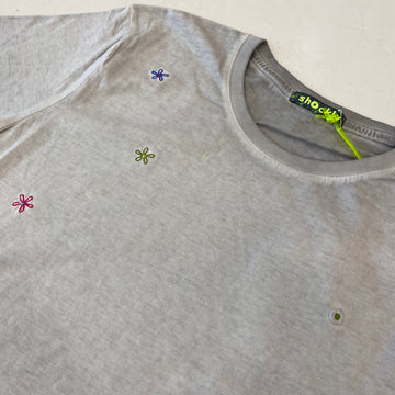 Shockly Grey Flower T-Shirt