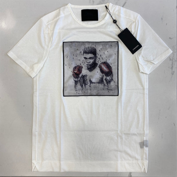 Limitato White Bee Muhammad Ali by Craig Alan T Shirt
