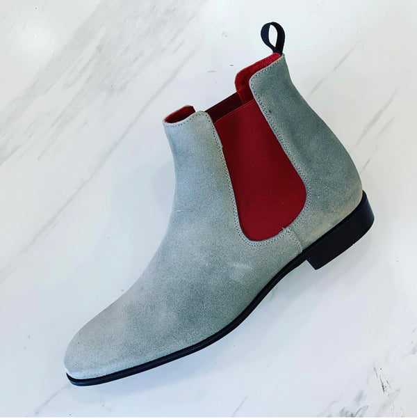 LaCuzzo Grey Suede Chelsea boot
