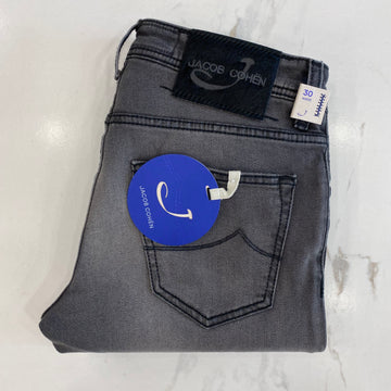 Jacob Cohen Grey Denim with Black Ponyskin Badge