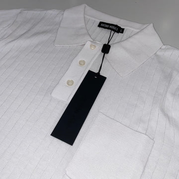 Antony Morato White Ribbed Polo