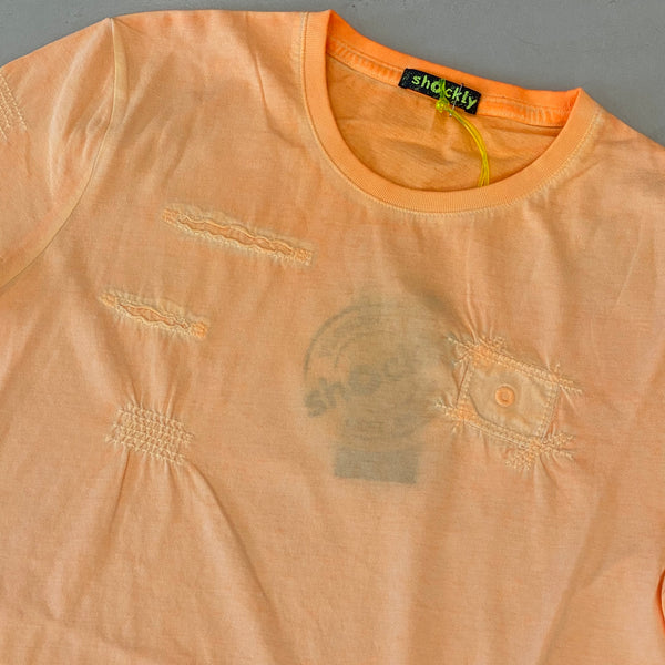 Shockly Coral Distressed T-Shirt