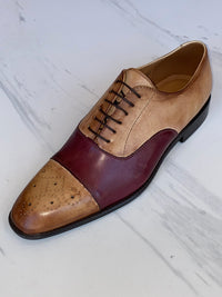 LaCuzzo Two tone Burgundy Shoe