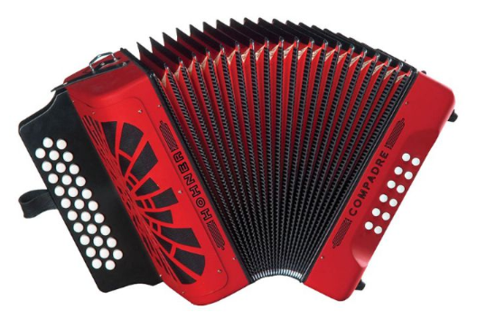 Hohner EAD E A D Mi 31 Button MM Compadre Button Accordion - Red