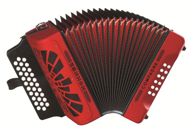 Hohner COMPADRE GCF Accordion - Red