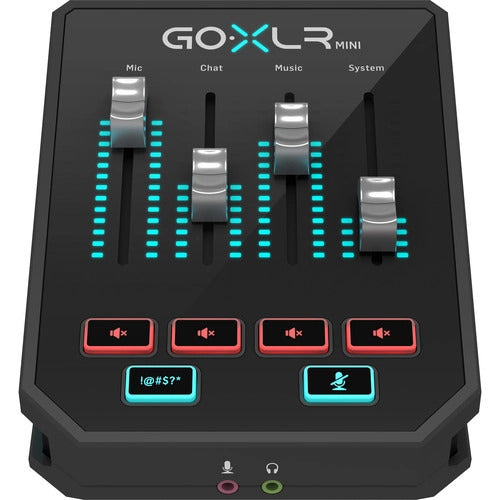 TC-Helicon GOXLR MINI Mélangeur de diffusion en ligne avec interface audio USB