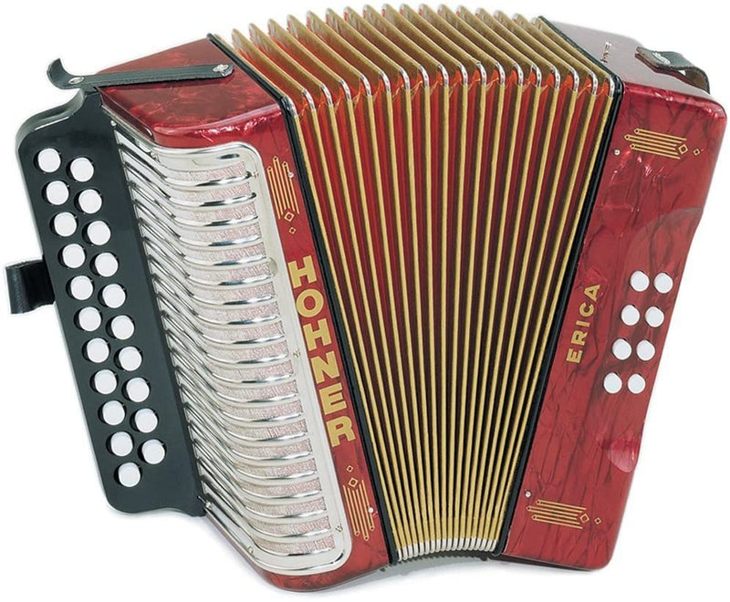Hohner 1600/2 ERICA Diatonic Accordion in the key of A/D