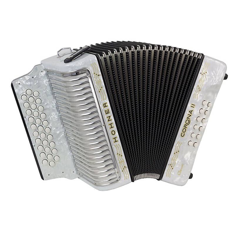 Hohner CORONA II 3523 Classic GCF Accordion - White