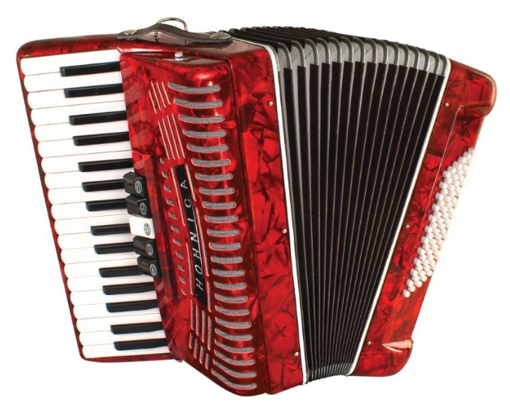 Hohner HOHNICA 72 Bass Piano Accordion - Red