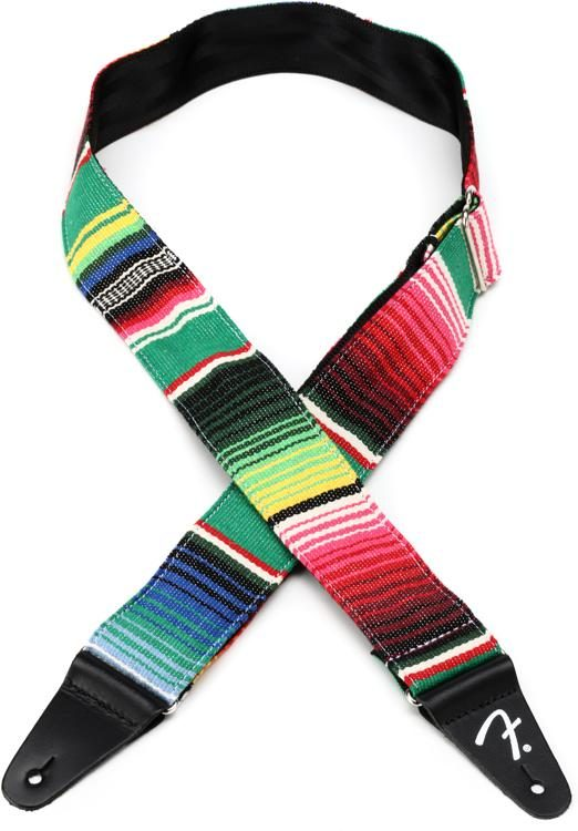 Fender SERAPE Guitar Strap - Green Multi