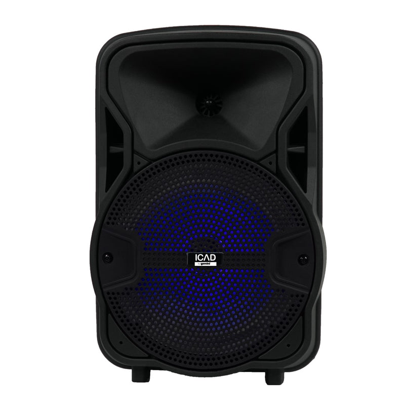 "Gemini GSX-L208BTB 500-Watt Powered 8"" Loudspeaker w/ Microphone"