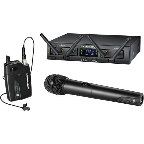 Audio-Technica Atw-1312L  System 10 Pro Rack-Mount Digital Lavalierhandheld Combo System 24 Ghz