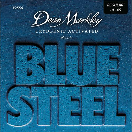 Dean Markley 2556 Blue Steel Electric Guitar Strings 10-46 6-String Set - Red One Music
