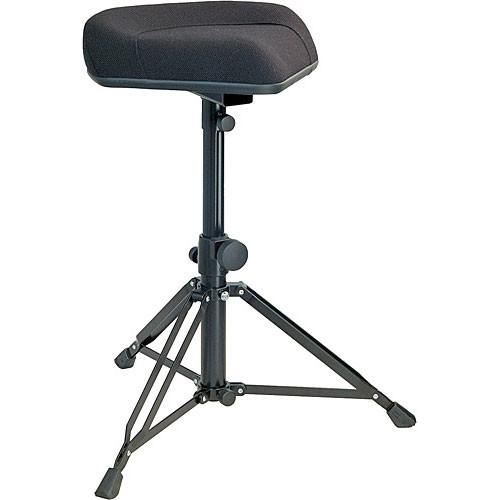 K&M 14056 Black Ergonomic Drummers Throne Black Fabric - Red One Music