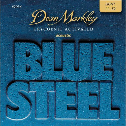 Dean Markley 2034 Blue Steel Acoustic Guitar Strings 011-052 - Red One Music