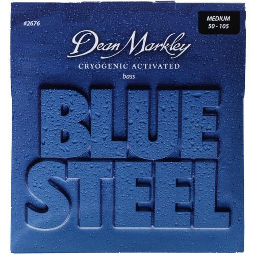 Dean Markley 2676 Blue Steel Bass Guitar Strings 50-105 Gauge 4-String Set - Red One Music