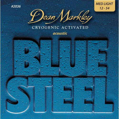 Dean Markley 2036 Blue Steel Acoustic Guitar Strings 012-054 - Red One Music