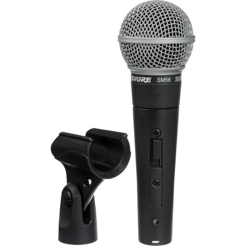 Microphone dynamique portable Shure Sm58S - Red One Music