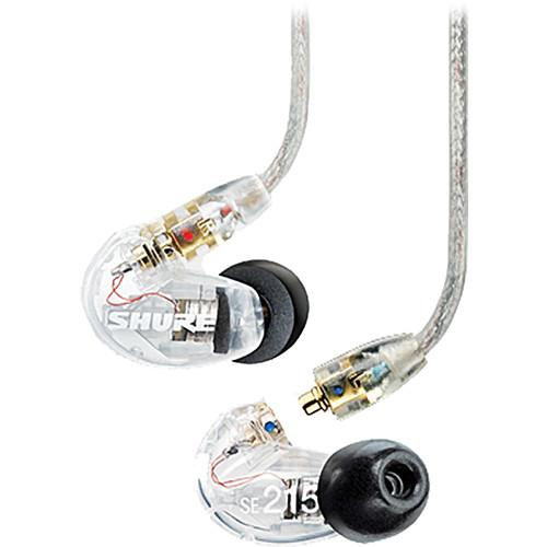 Écouteurs stéréo intra-auriculaires à isolation sonore Shure Se215-Cl Clear - Red One Music