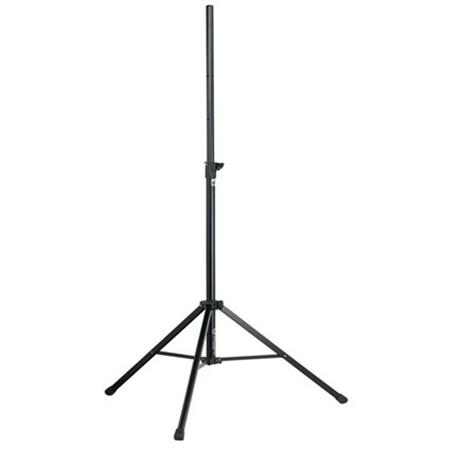 K&M 21435 - Black Speaker Stand - Red One Music