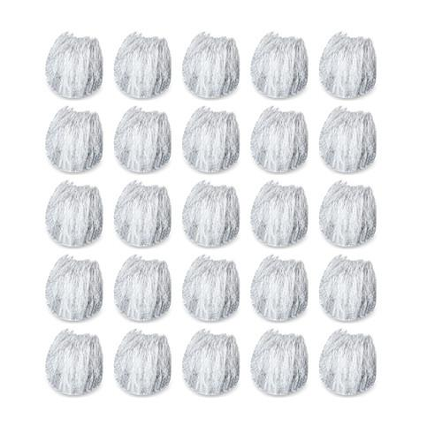 Rycote 065547 Box Of 25 Micro Windjammers With 30 Cuthole Stickies - Red One Music