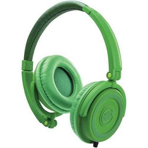 RELOOP RHP-5 LEAF GREEN  CHOCOLATE CROWN DJ HEADPHONES W SMARTPHONE MIC AMP CONTROLS