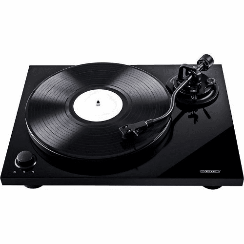 Reloop TURN-3-S-ARM Turn 3 Black Usb Turntable With Turn 3 S Arm - Red One Music