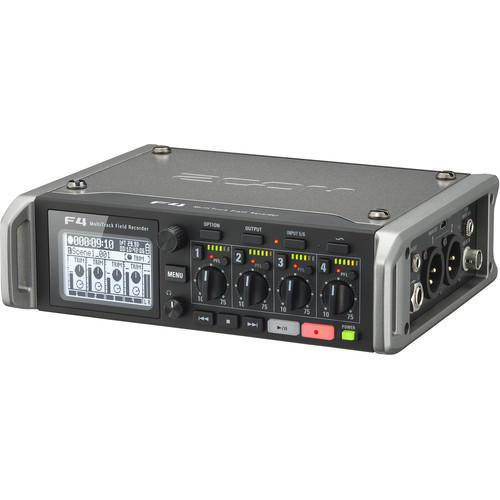 ZOOM F4 MULTITRACK FIELD RECORDER WITH TIMECODE - 6 INPUTS  8 TRACKS