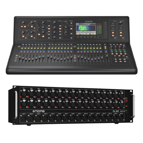 Midas M32 LIVE Digital Console and DL32 Stage Box Bundle