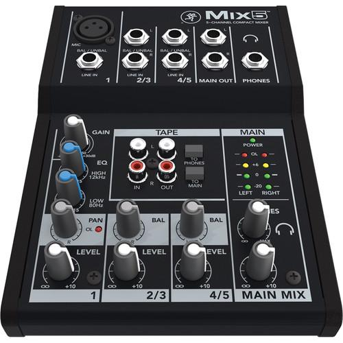 Mackie MIX5 Table de mixage compacte 5 canaux - Red One Music