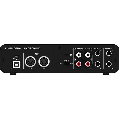 Behringer Umc204Hd Interface audio USB