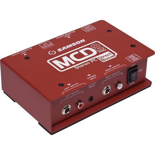 Samosn Mcd2-Pro 2-Channel Passive Pc Direct Box - Red One Music