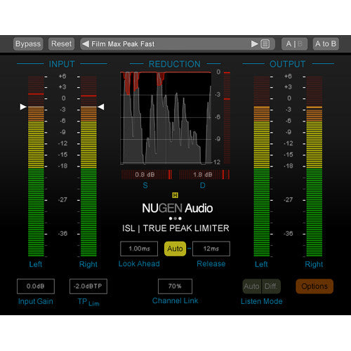 NuGen Audio ISL 2 DSP - Real-Time True Peak Limiter Plug-In for Pro Tools HDX (Download)