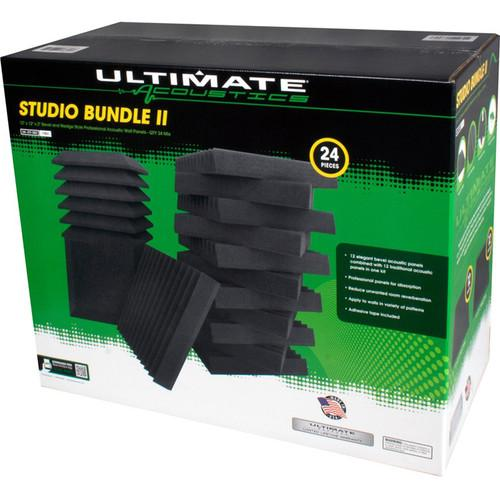 Ultimate Acoustics Studio Bundle Ii 24-Piece Acoustique En Mousse Biseauté Compensé