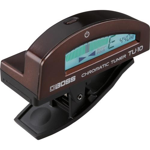 BOSS TU-10-BN CLIP-ON CHROMATIC TUNER BROWN