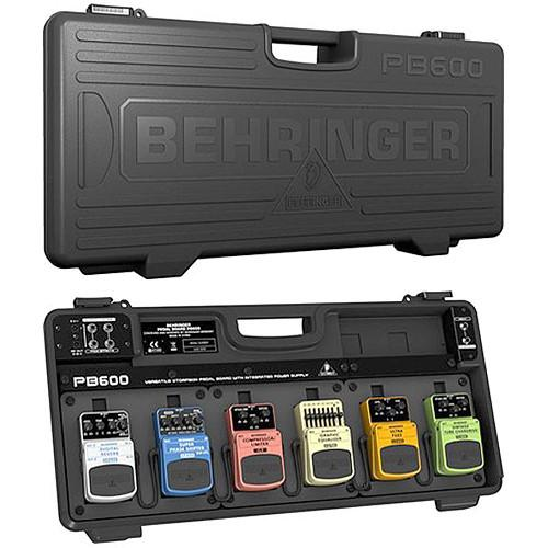 Behringer PB600 Universal Effects Pedalboard With 9V Power Supply - Red One Music