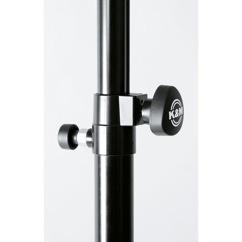 K&M 21368 Height-Adjustable 433 To 709 Distance Rod With Ring Lock Black - Red One Music