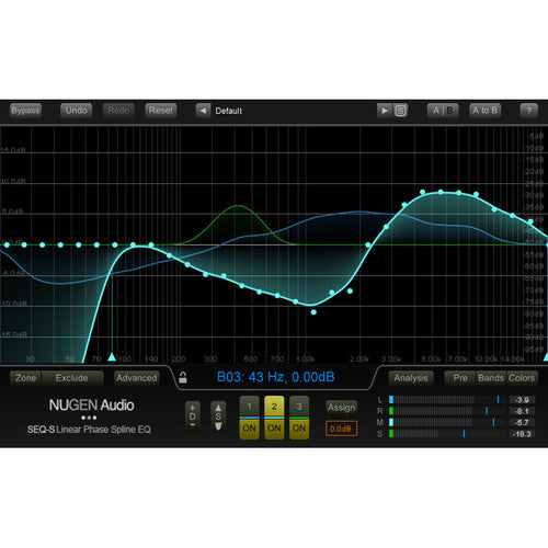 NuGen Audio SEQ-ST - Stereo Linear-Phase Spline EQ Plug-In (Download)
